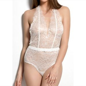 Hanky Panky lace halter bodysuit plaything